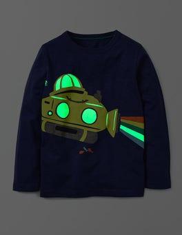 Workwear Blue Glow In The Dark T-shirt