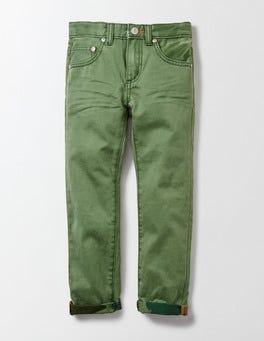 Action Green Coloured Slim Jean