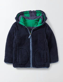 Mystic and Astro Green Stripe Reversible Shaggy Hoody