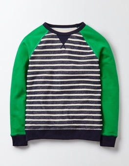 Navy and Ivory Stripe Essential Sweatshirt