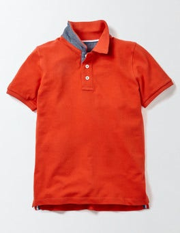 Ziggy Red Piqué Polo
