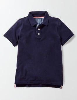 Navy Piqué Polo