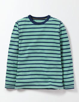 Hot Spring/Beacon Blue Stripe Supersoft T-shirt