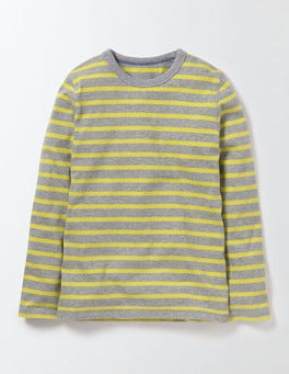 Grey Marl /Cantaloupe stripe Supersoft T-shirt