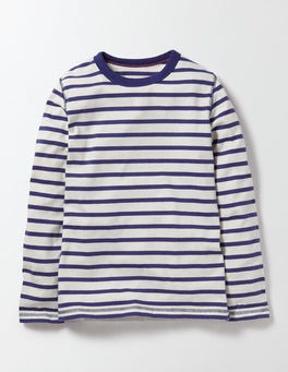 Ivory and Starboard Stripe Supersoft T-shirt