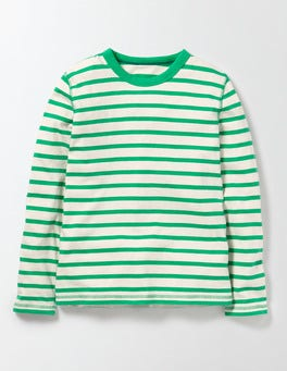 Ivory and Astrogreen Stripe Supersoft T-shirt