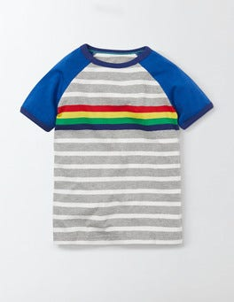 Rainbow Multistripe Retro T-shirt