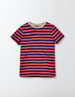 Blue and Gazpacho Stripe Slub Washed T-shirt