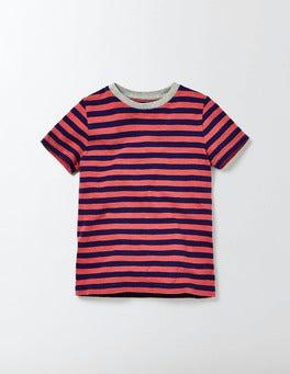 Blue and Gazpacho Stripe Slub Washed T-shirt