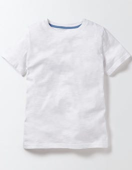 White Slub Washed T-shirt