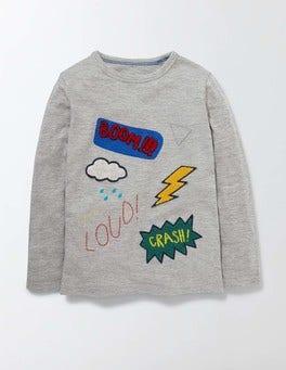 Grey Marl Hero T-shirt