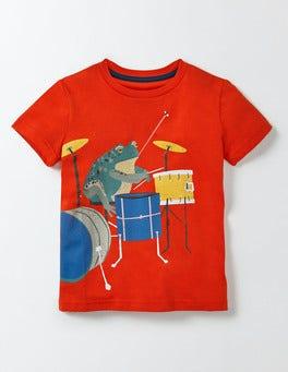Ziggy Red Musical Animals T-shirt