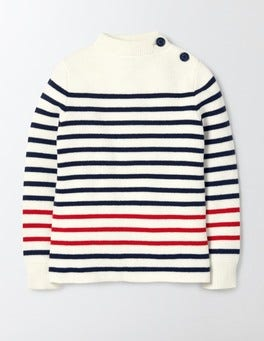 Ivory Sailor Crew Sweater