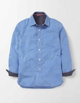 Klein Blue Gingham Laundered Shirt