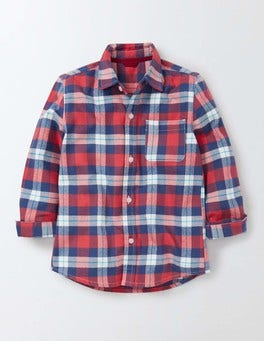 Soft Red and Sail Blue Check Cosy Check Shirt