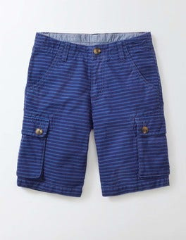 Workwear Blue and Duke Stripe Cargo Shorts