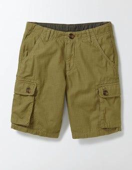 Organic Green Cargo Shorts