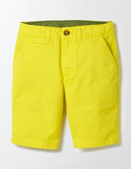 Cantaloupe Yellow Chino Shorts