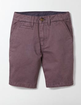 Burnt Aubergine Chino Shorts