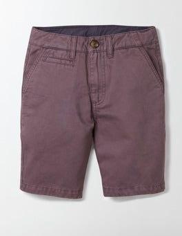 Burnt Aubergine Chino Shorts
