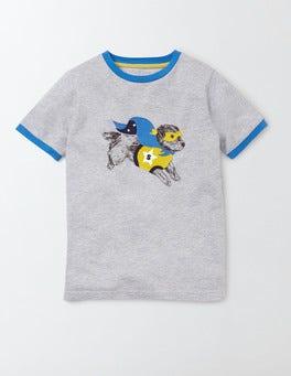 Grey Marl/ Sprout Superhero Animals T-Shirt