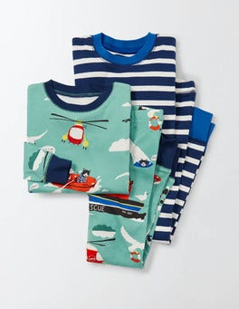Hot Spring Air-Sea Rescue Cosy Twin Pack Long Johns
