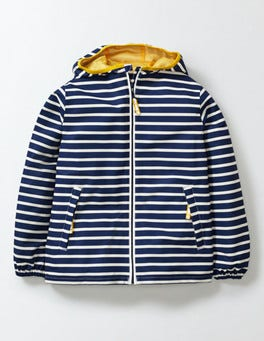 Navy/Ivory Stripe Waterproof Packaway