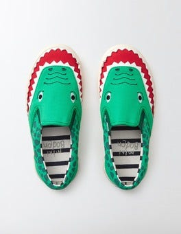 Astro Green Novelty Canvas Pull-ons