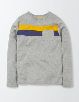 Light Grey Surf Stripe T-Shirt