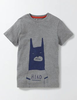Grey Marl Graphic T-shirt
