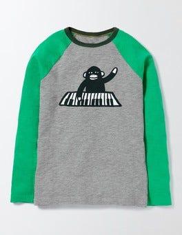 Grey Marl Raglan Logo T-shirt