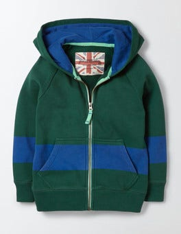Country Green Sporty Zip-through