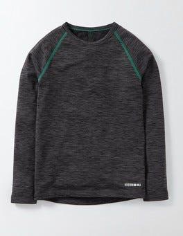 Check Long Sleeve Active T-Shirt