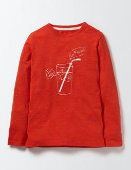Ziggy Red Long Sleeve Logo T-shirt