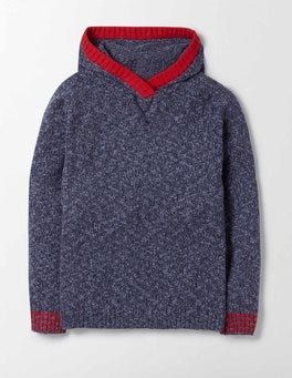Navy Knitted Hoody