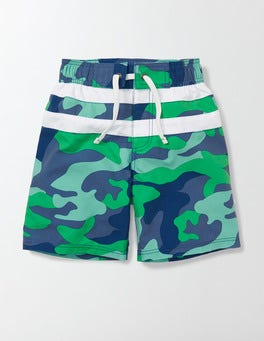 Astro Green Camo Poolside Shorts