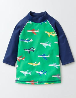 Bright Green Planes Logo Rash Guard
