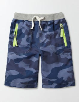 Navy Camo Adventure Shorts