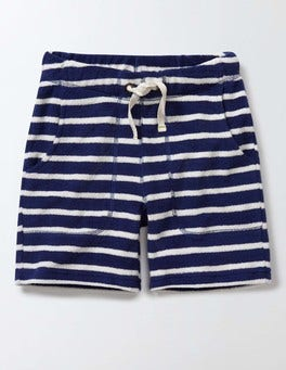Beacon/Ivory Stripe Towelling Shorts