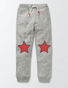 Grey Appliqué Joggers