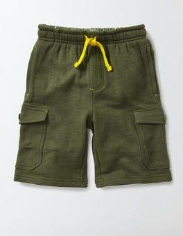 Terrain Green Jersey Cargo Shorts