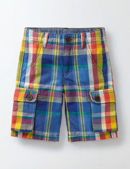Madras Check Summer Cargo Short