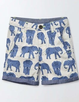 Cornish Blue Elephants Roll Up Shorts