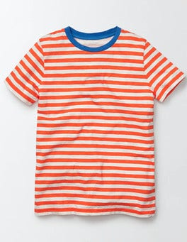 Marmalade/Ivory Stripe Slub Washed T-shirt
