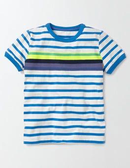 Ivory and Skipper Stripe Colourblock Stripe T-shirt