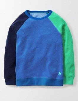 Navy / Skipper / Mint Towelling Sweatshirt