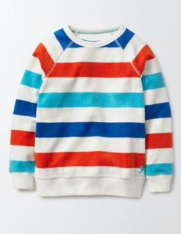 Multi Stripe Towelling Sweatshirt