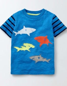 Skipper and Navy Stripe Ocean Life T-shirt