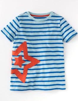 Light Surf and Skipper Stripe Slub Stripe Appliqué T-shirt
