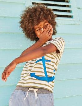 Slub Stripe Appliqué T-shirt